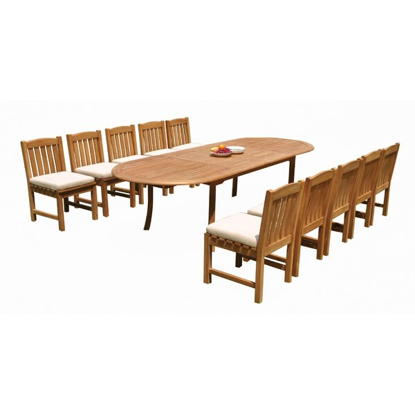 Midcre 11 Piece Teak Dining Set by Rosecliff Heights