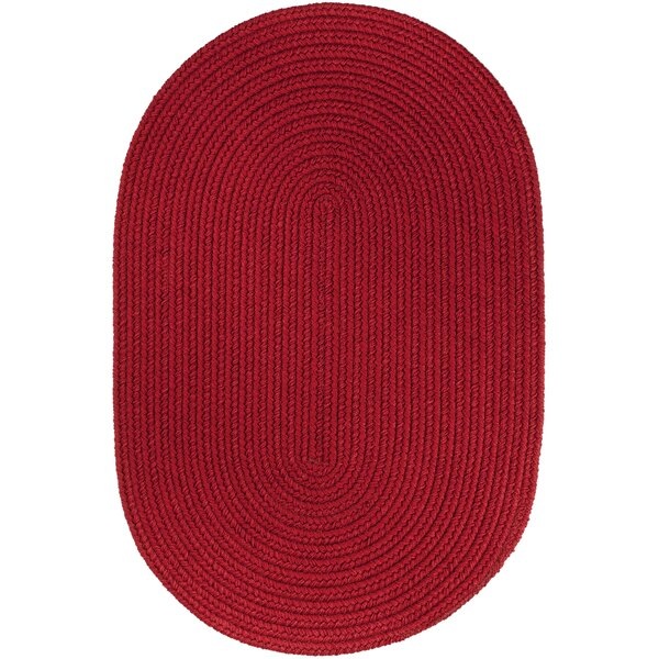 Handmade Brilliant Red Indoor/Outdoor Area Rug by The Conestoga Trading Co.