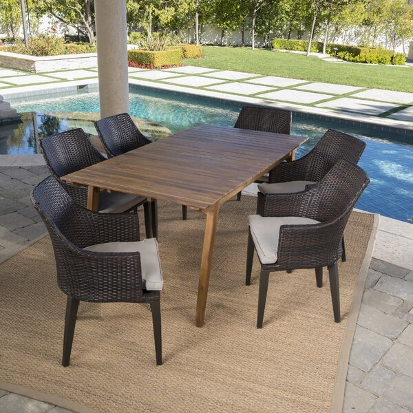 Gerber Outdoor 7 Piece Dining Set with Cushions by Ivy Bronx