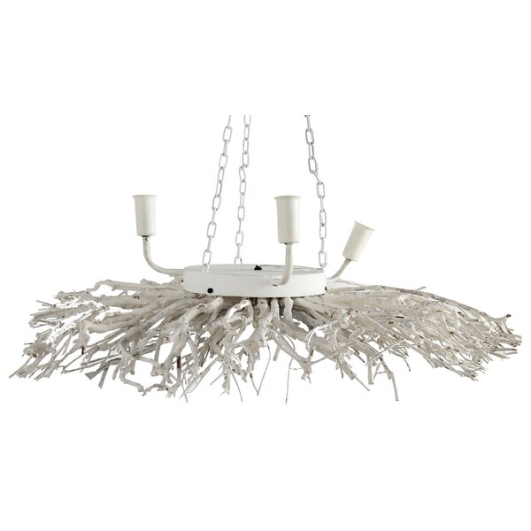 Cole 3 - Light Candle Style Classic / Traditional Chandelier by Highland Dunes Highland Dunes