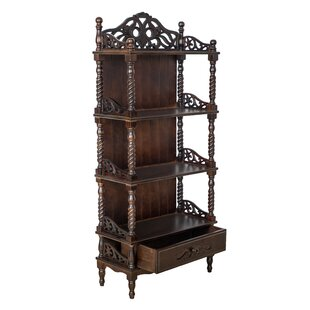 Look for Aliceville Carved Standard Bookcase By Bloomsbury Market