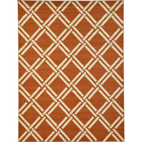 Storyvale Rust Red Area Rug by Beachcrest Home