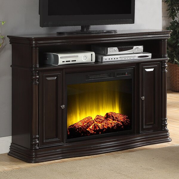 Review Nataly TV Stand For TVs Up To 55 Inches With Fireplace Included
