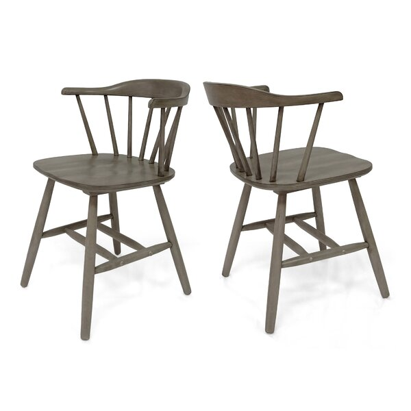 Doiron Solid Wood Dining Chair (Set of 2) by Gracie Oaks