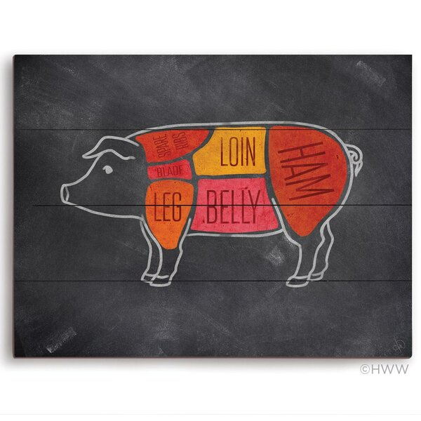 Parts Of A Pig Graphic Art Plaque by Click Wall Art