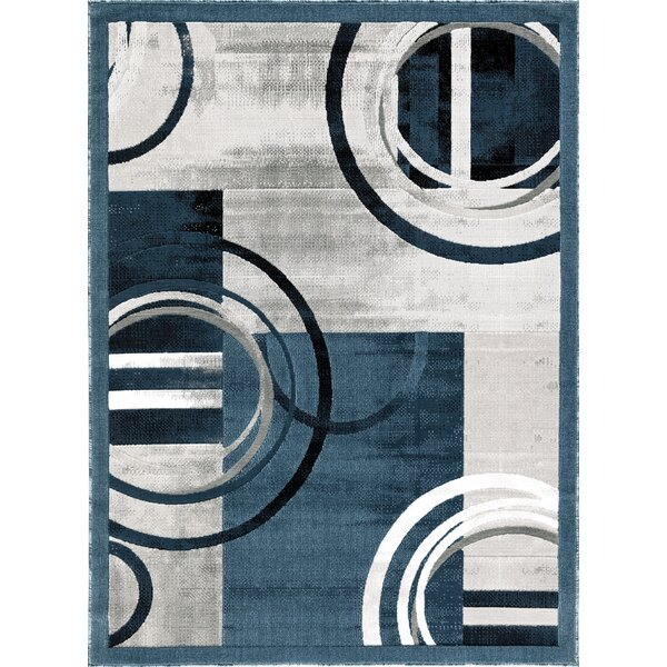 Charleson Dark Blue/Gray Area Rug
