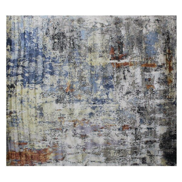 Aurora Hand-Knotted Blue/Gray Area Rug by Exquisite Rugs