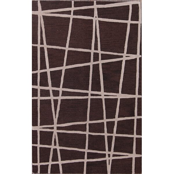 Laughlin Dark Traditional Oushak Oriental Hand-Tufted Wool Beige/Brown Area Rug by Brayden Studio