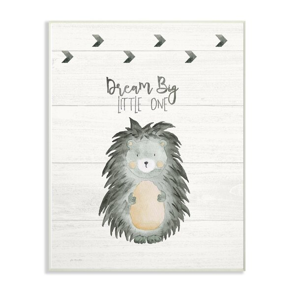 Feng Dream Big Porcupine Decorative Plaque by Harriet Bee