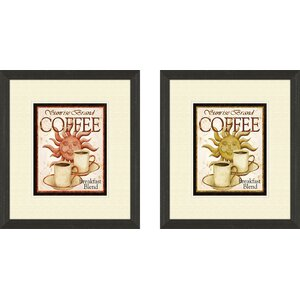 Kitchen Sunrise Brand 2 Piece Framed Vintage Advertisement Set by PTM Images