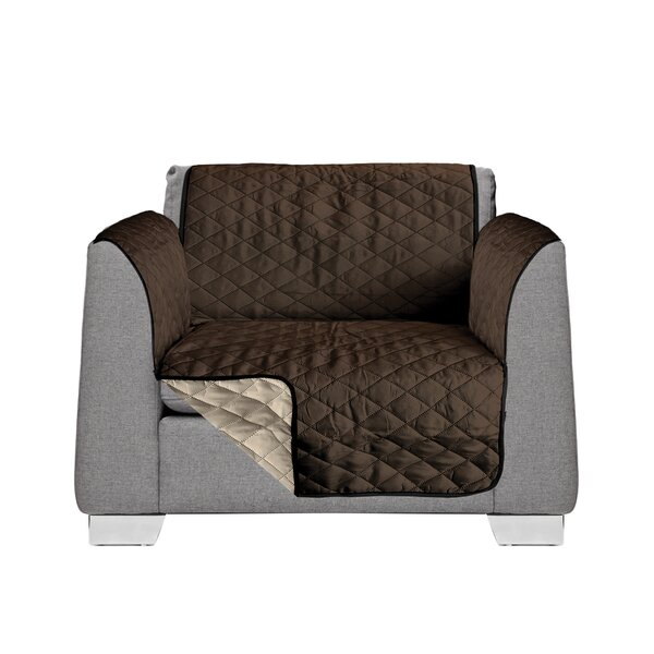 1 Seat Reversible Quilted Box Cushion Armchair Slipcover by AKC