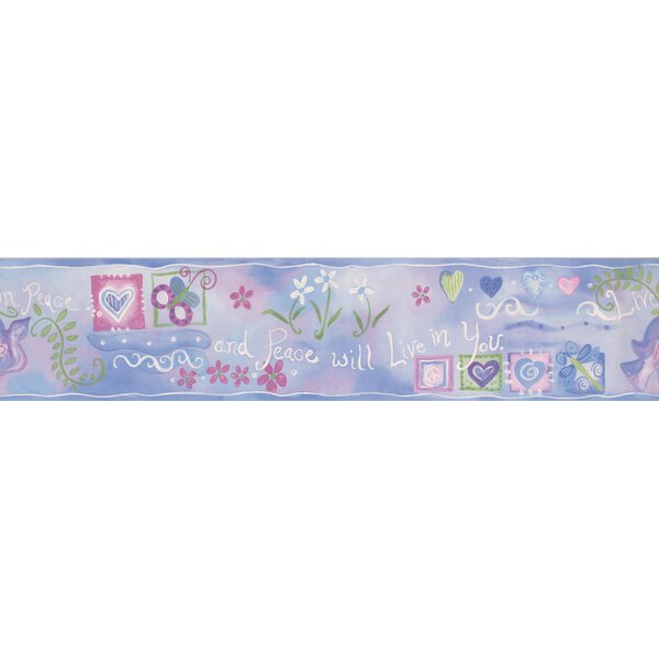 Cheyanna Hearts Peace Flowers Wall Border by Red Barrel Studio