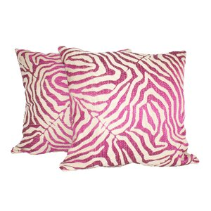 Zebra Glow Throw Pillow (Set of 2)
