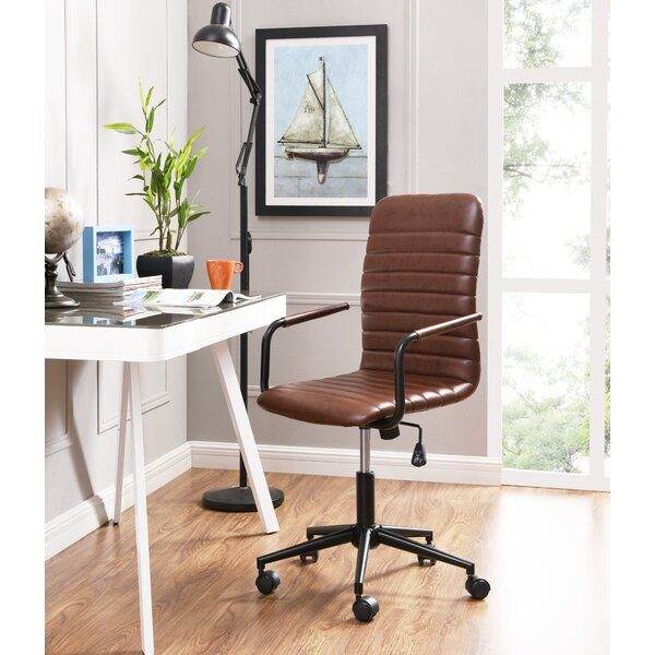 Gilmore Elegant Swivel Office Chair by Williston Forge