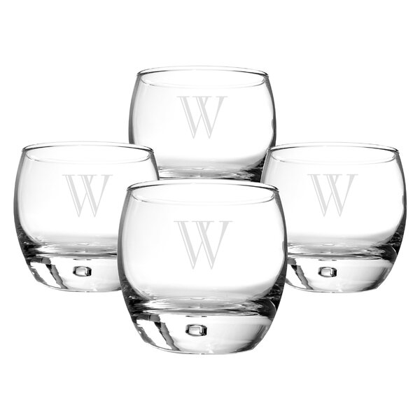 Personalized 10.75 oz. Whiskey Glass (Set of 4) by Cathys Concepts