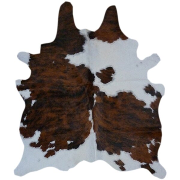 Natural Cowhide Brown & White Area Rug by Deco Hid