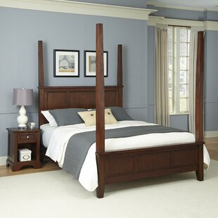 Borden Four Poster 2 Piece Bedroom Set By Three Posts