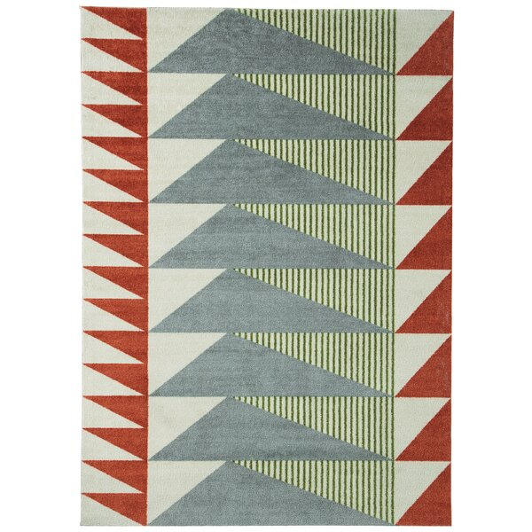 Corrigan Studio Bernadette Tabasco/Gray Area Rug & Reviews by Corrigan Studio