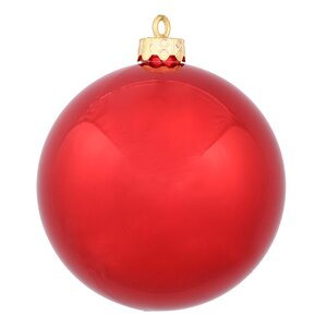 Christmas Ball Ornament with Pre Drilled Cap