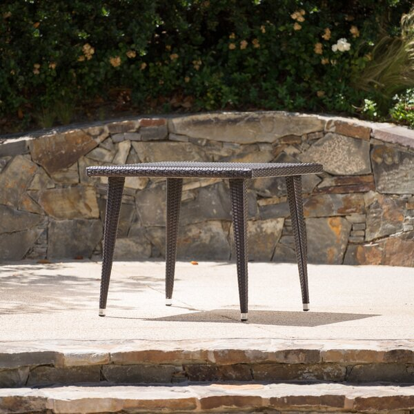 Malta Outdoor Wicker Dining Table by Longshore Tides