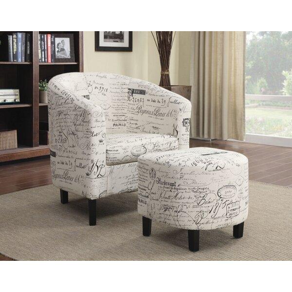 Naida Barrel Chair with Ottoman by Latitude Run