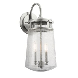 Reviews Tannis 2-Light Outdoor Wall Lantern By Breakwater Bay