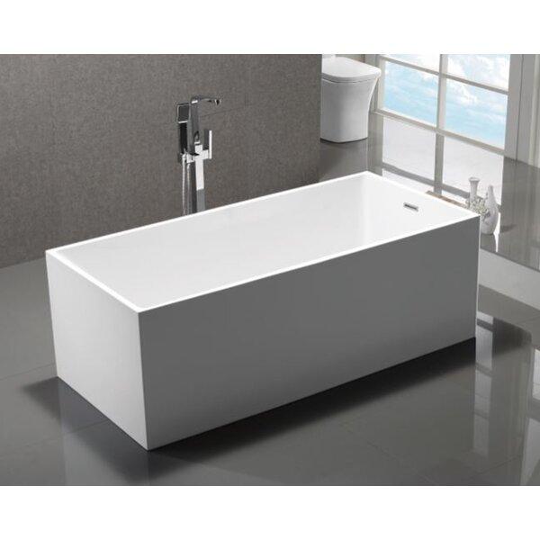 Long Beach 58.8 x 29.75 Soaking Bathtub by MTD Vanities