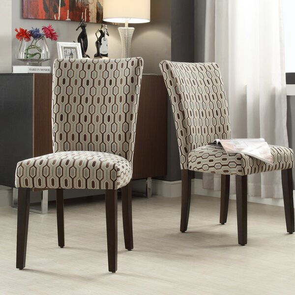 Etna Stripe Side Chair (Set of 2) by Latitude Run