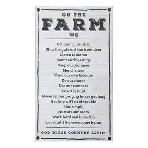 Farm 'On The Farm' Textual Art by Creative Co-Op