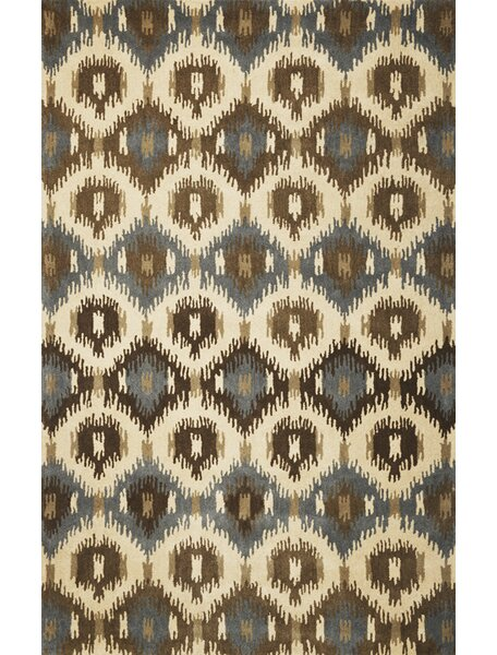 Jagger Ivory Allover Mosaic Area Rug by Bungalow Rose