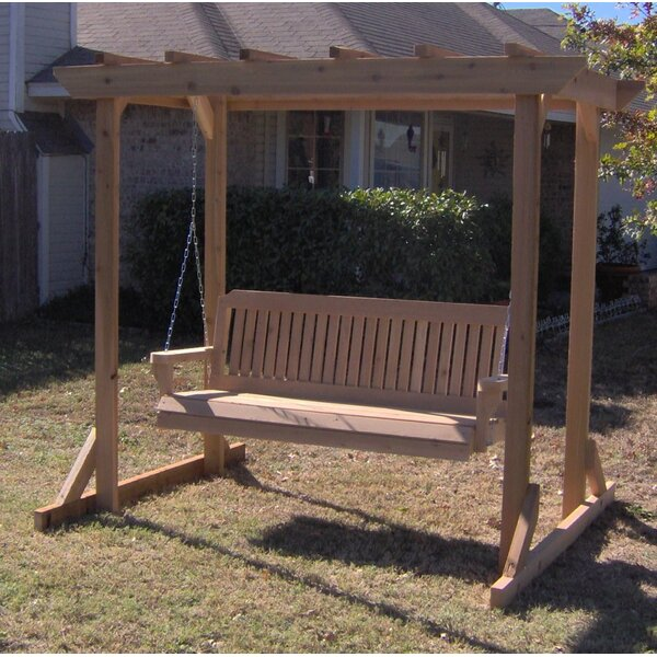 Donath Pergola Style Arbor Porch Swing with Stand by August Grove August Grove