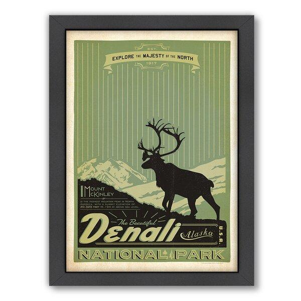 National Park Denali Framed Vintage Advertisement by East Urban Home
