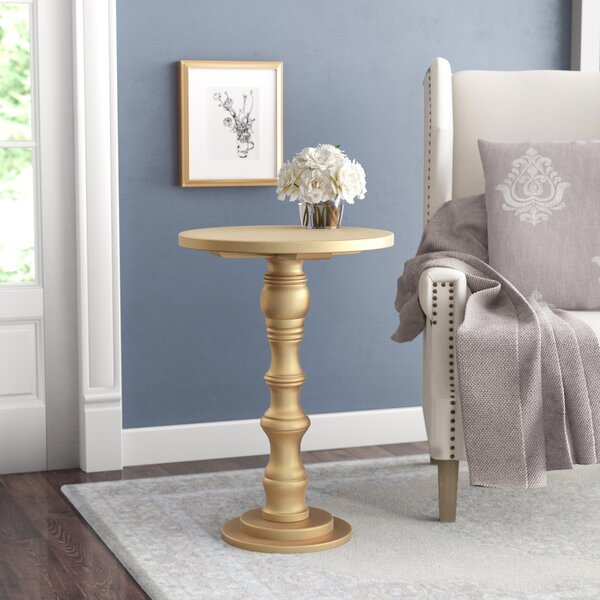 Sadie Solid Wood Pedestal End Table By Willa Arlo Interiors