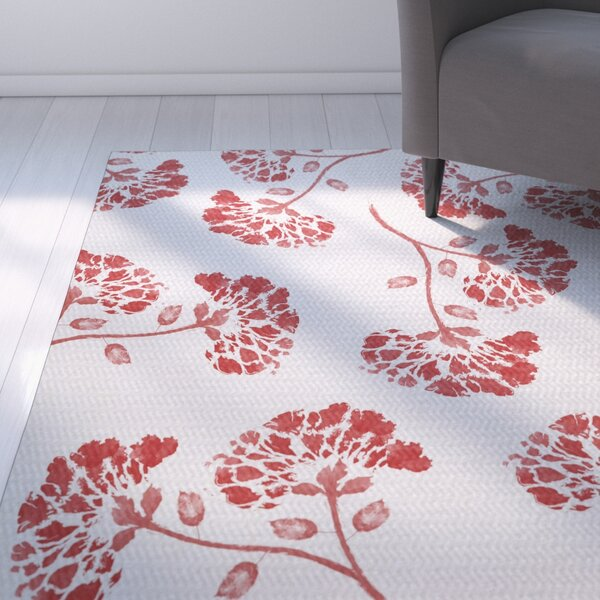 Neville Red Indoor/Outdoor Area Rug by Zipcode Design