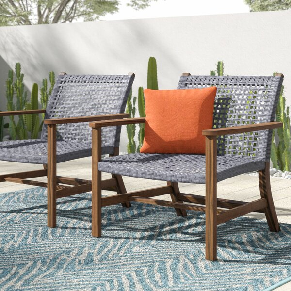 Tibbitts Teak Patio Chair (Set of 2) by Mistana Mistana