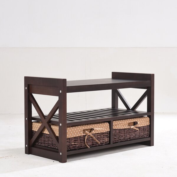 Harmony Wood Storage Bench By Greenville Signature Sale