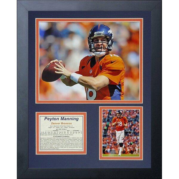 Peyton Manning Framed Memorabilia by Legends Never Die