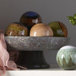 Weeks 5 Piece Decorative Ceramic Orbs Set