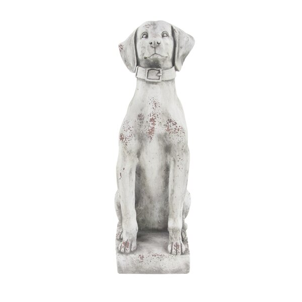 Duchesne Sitting Dog Resin Figurine by Alcott Hill