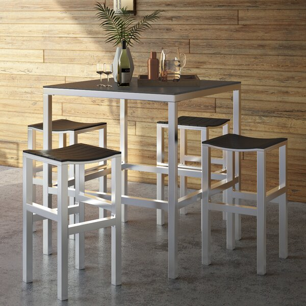 Anderson 5 Piece Bar Height Dining Set by Wade Logan