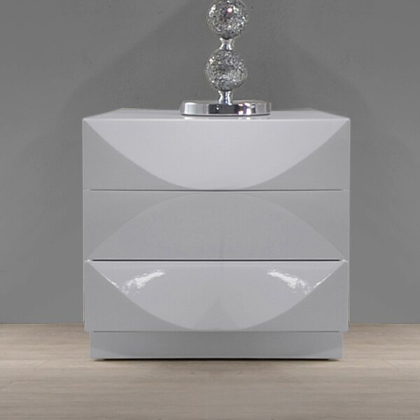 Agora 3 Drawer Nightstand by Orren Ellis