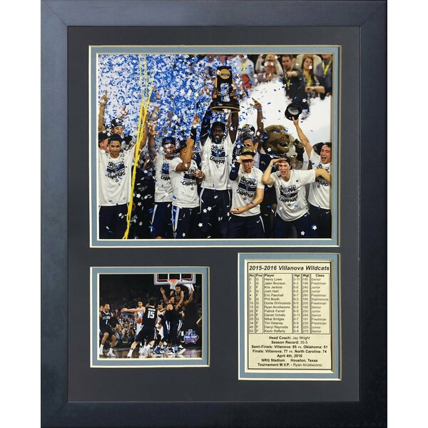Villanova 2016 National Champions Podium Framed Memorabilia by Legends Never Die