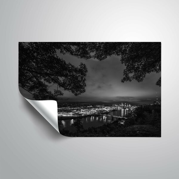 Medders Black and White Pittsburgh Wall Mural by Ebern Designs