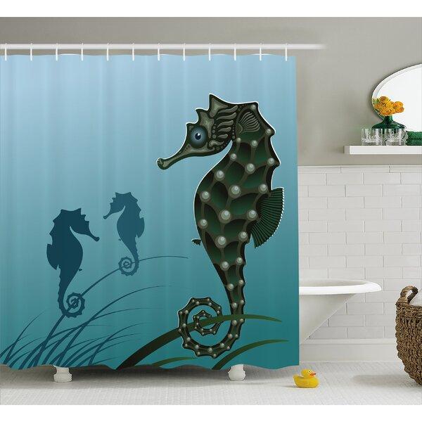 Animal Sea Creatures Aquatic Shower Curtain by East Urban Home