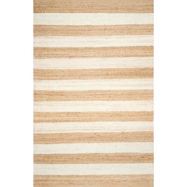 Stockton Springs Beige/Bleached Area Rug by Breakwater Bay