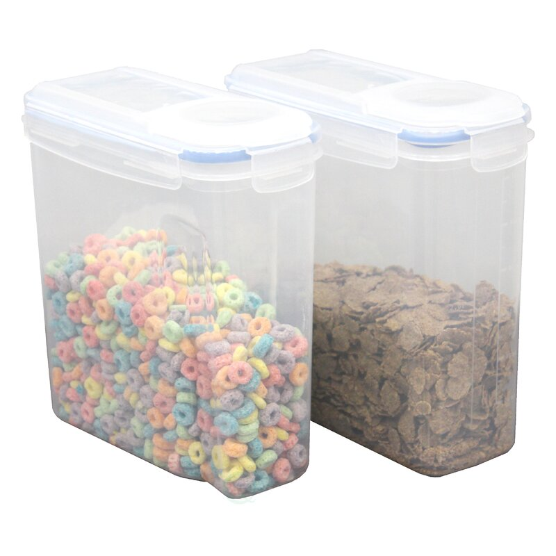 Large BPA Free Plastic Cereal Bulk Food Storage Container With Airtight  Spout Lid