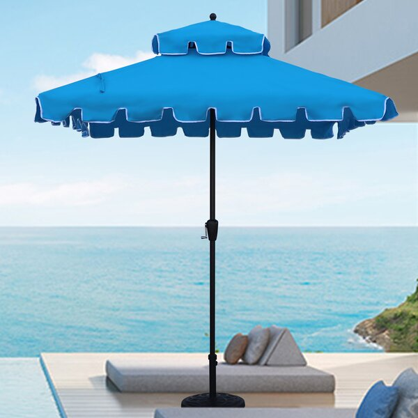 Jersey 7' Square Beach Umbrella By Highland Dunes