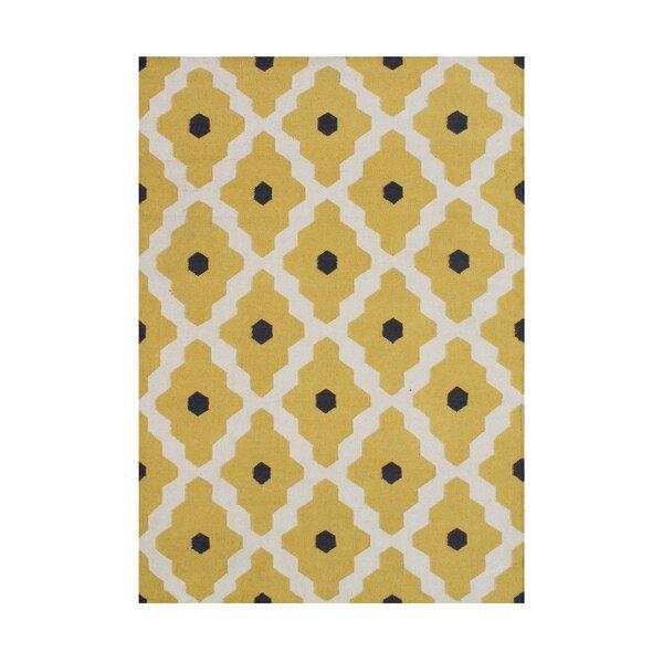 Anninka  Hand-Tufted Yellow Area Rug by Wildon Home ®