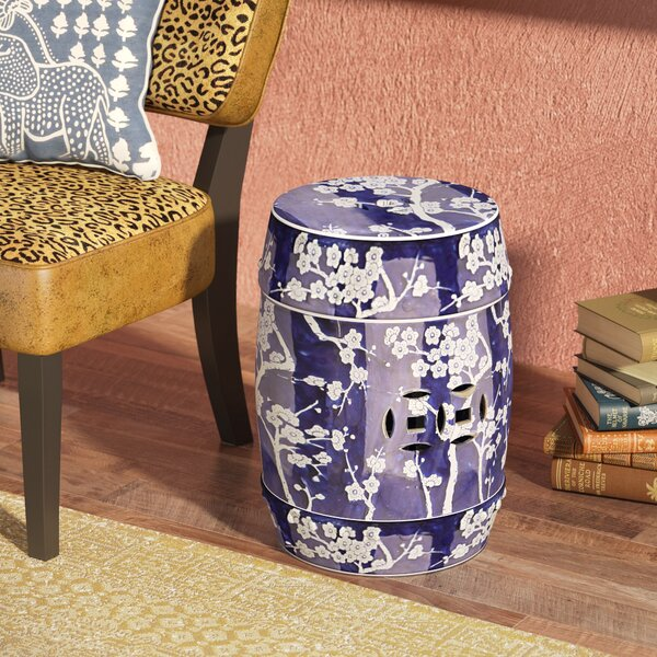 Lauzon Midnight Kiss Garden Stool by World Menagerie World Menagerie