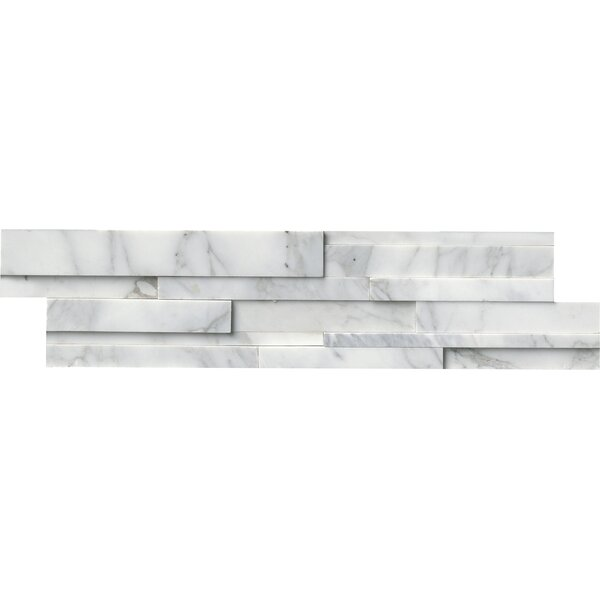6 x 24 Marble Mosaic Tile in White/Gray by MSI